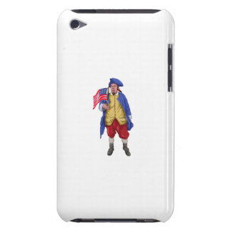 American Patriot Shouting Holding Flag Watercolor iPod Touch Cover