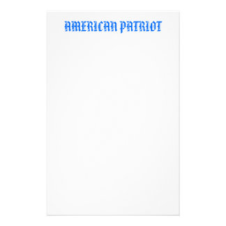 AMERICAN PATRIOT STATIONERY DESIGN