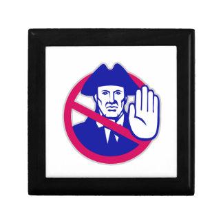 American Patriot Stop Sign Retro Gift Box