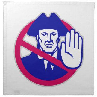 American Patriot Stop Sign Retro Napkin