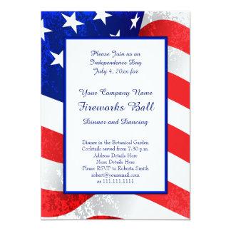American Patriot US Flag July 4th Inviations Card
