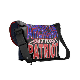 American patriot usa flag courier bag