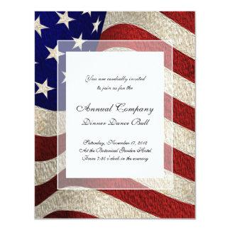 American Patriot Vintage Stars and Stripes US Flag 11 Cm X 14 Cm Invitation Card