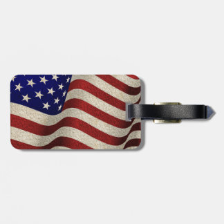 American Patriot Vintage Stars and Stripes US Flag Luggage Tag