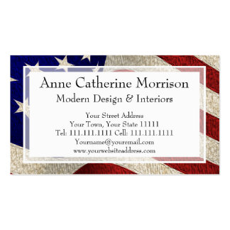 American Patriot Vintage Stars and Stripes US Flag Pack Of Standard Business Cards