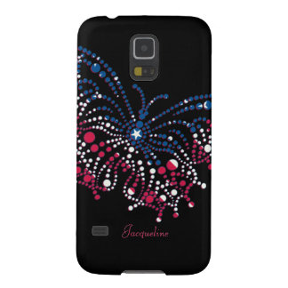 American Patriotic Dots Butterfly Galaxy S5 Cover