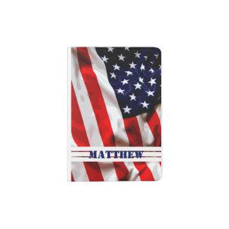 American Patriotic Flag - Custom Passport Holder