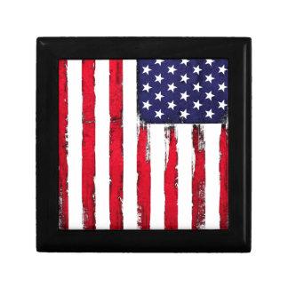 American Patriotic Grunge flag Gift Box