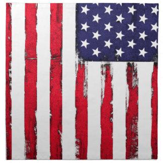 American Patriotic Grunge flag Napkin
