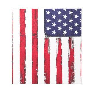 American Patriotic Grunge flag Notepad