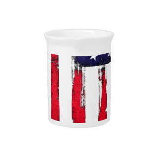 American Patriotic Grunge flag Pitcher
