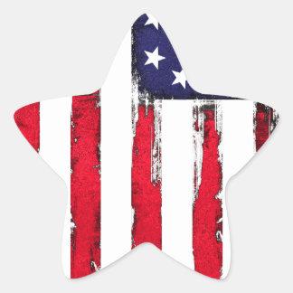 American Patriotic Grunge flag Star Sticker