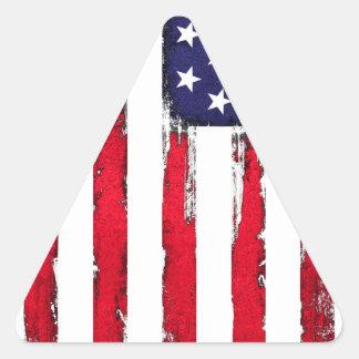 American Patriotic Grunge flag Triangle Sticker