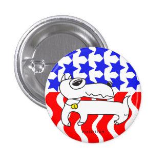 American Patriotic Mini Pinscher Dog Button