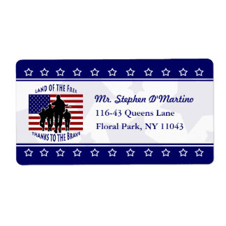 American Patriotic Personalized Shipping Label
