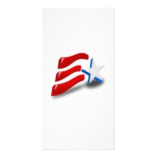 American Patriotic Symbol Custom Photo Card