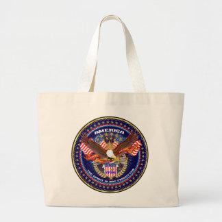 American Patriotic View Notes Please Jumbo Tote Bag
