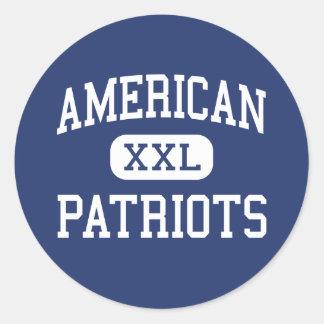 American - Patriots - High School - Miami Florida Round Sticker