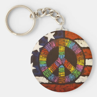 American Peace Basic Round Button Key Ring
