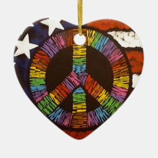 American Peace Ceramic Ornament