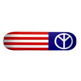 American Peace Flag Mini Skateboard