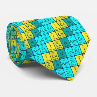 American periodic table patriotic tie