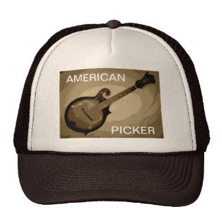 AMERICAN PICKER TRUCKER HAT (Tan and Brown)
