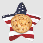 American Pie (Apple Pie with American Flag) Sticker
