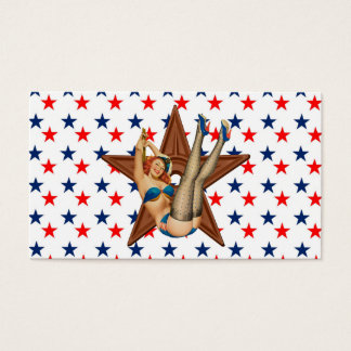 American pinup star business card