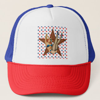 American pinup star trucker hat