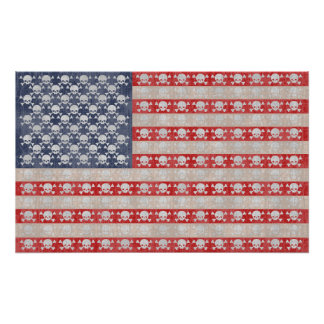 American Pirate Flag Poster