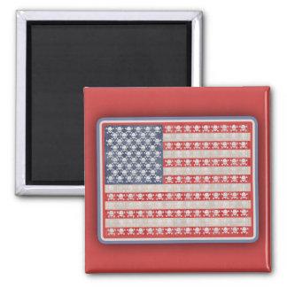 American Pirate Flag Square Magnet