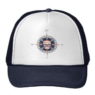 American Pirate Rose Mesh Hat