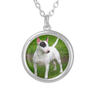 American Pit Bull Terrier Dog Silver Plated Necklace