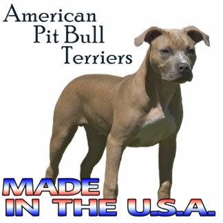 American Pit Bull Terriers  Paper Sculpture Standing Photo Sculpture