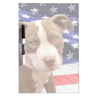 American Pitbull puppy Dry Erase Board