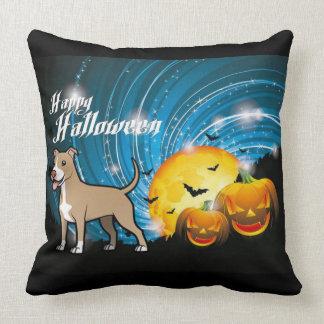American Pitbull Terrier Happy Halloween Cushion