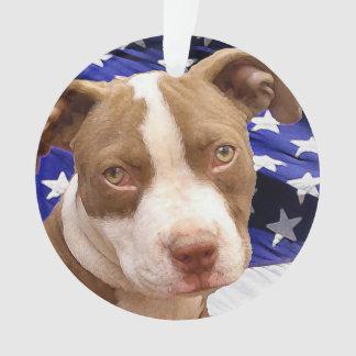 American Pitbull Terrier pup Ornament