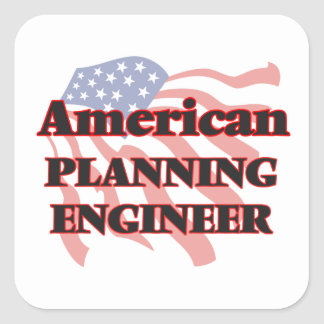 American Planning Engineer Square Sticker