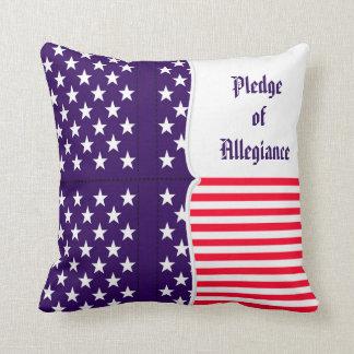 American Pledge of Allegiance Throw Cushions