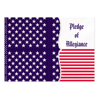 American Pledge of Allegiance in French Business Card