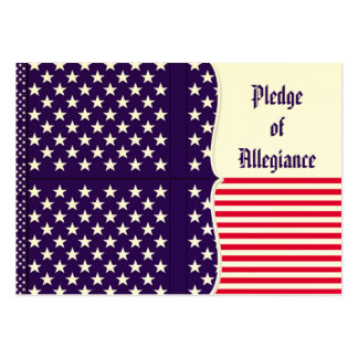 American Pledge of Allegiance in German Business Card Template