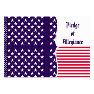 American Pledge of Allegiance in Spanish Business Card Template