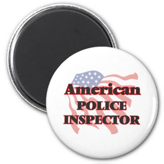 American Police Inspector 6 Cm Round Magnet