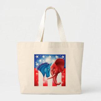 American Politics Concept Canvas Bags