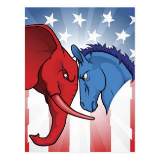 American politics postcard