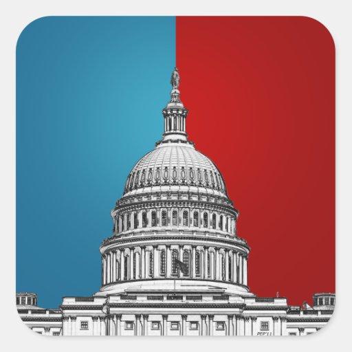 American Politics Square Sticker