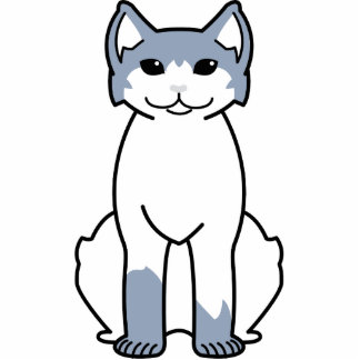 American Polydactyl Cat Cartoon Cut Outs