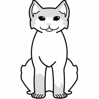 American Polydactyl Cat Cartoon Photo Cut Out