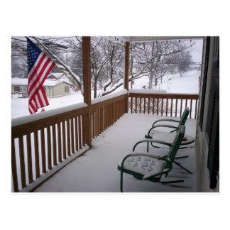 American Porch in Winter Postcard